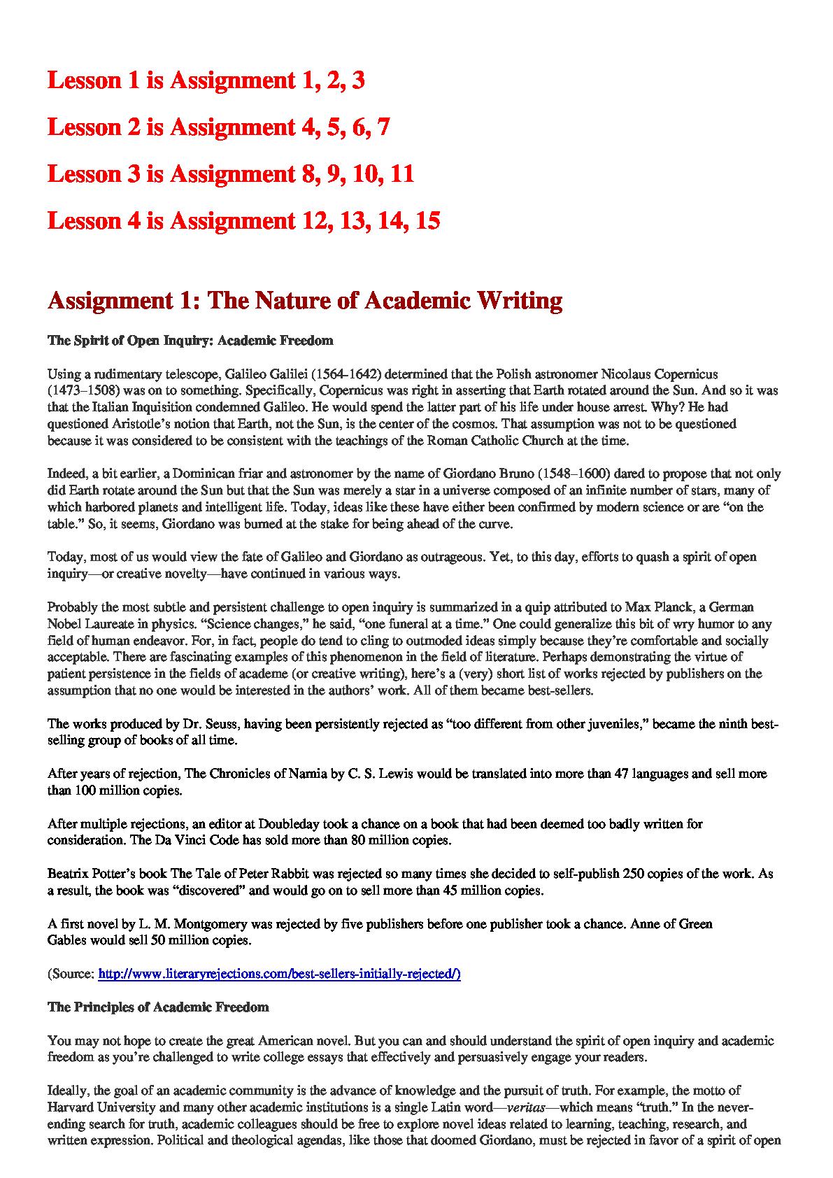 Sample process essay